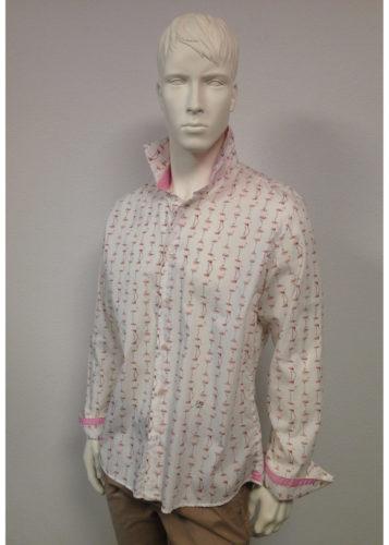 Lucky de Luca - JOEY Hemd Flamingo Print