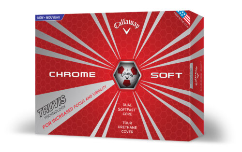 Callaway - CHROME SOFT TRUVIS weiss-rot