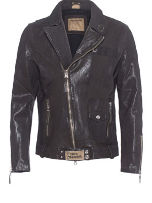 Lederjacke Biker Patches - True Religion