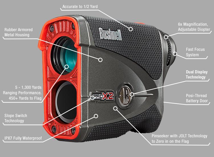 Bushnell golf pro laser rangefinder entfernungsmesser