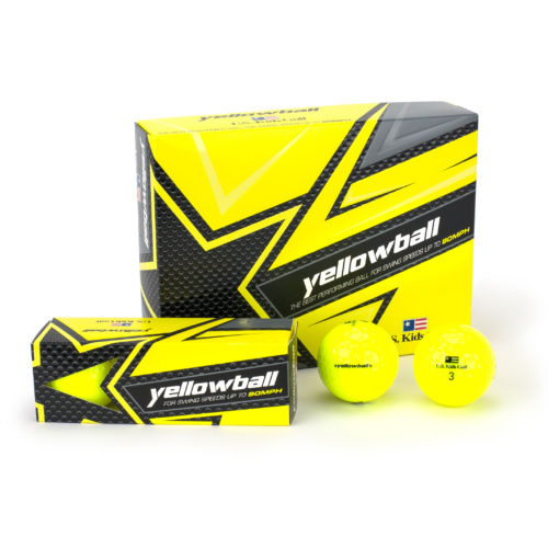 U.S. Kids Golf - YELLOWBALL Junior-Golfball gelb (3-Pack)