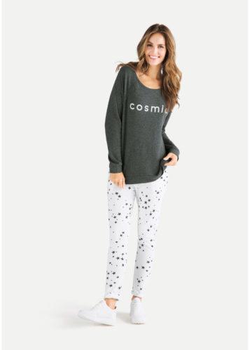 Juvia - Sweater mit Schriftzug Cosmic