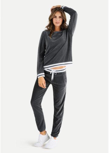 Juvia - Sweater Nicki mit zweifarbigem Bund