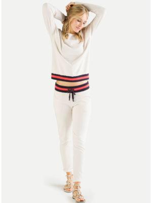 Juvia - Sweater mit zweifarbigem Bund
