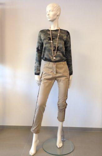 Barbone - SANDY Hose mit Seiten-Streifen