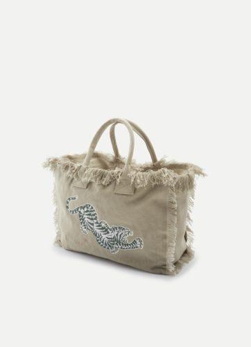 Juvia - Beach Bag mit Tiger-Print