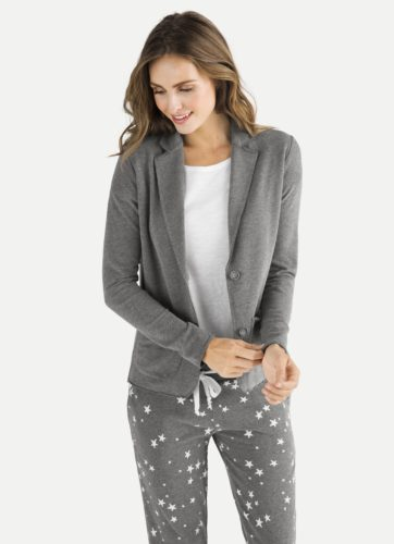 Juvia - Blazer in Basic-Sweat-Qualität