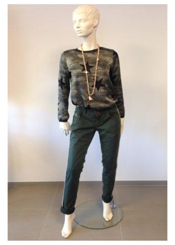 Barbone - INA Hose mit Seiten-Streifen
