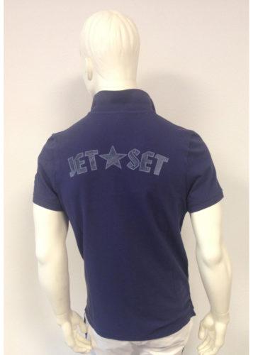 Jet Set - Polo-Piqué mit Jet-Set-Print