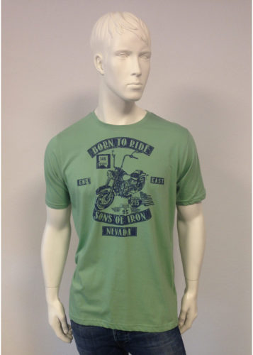 Kitaro - T-Shirt mit Born-To-Ride-Print