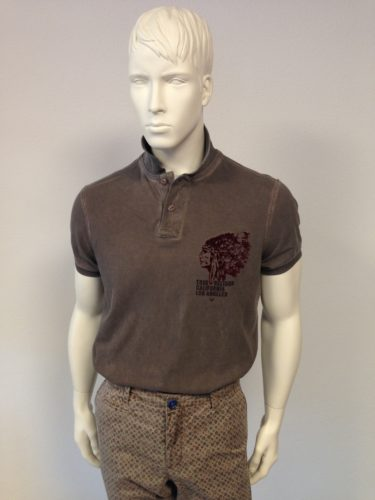 True Religion - Polo-Piqué mit Indian-Print