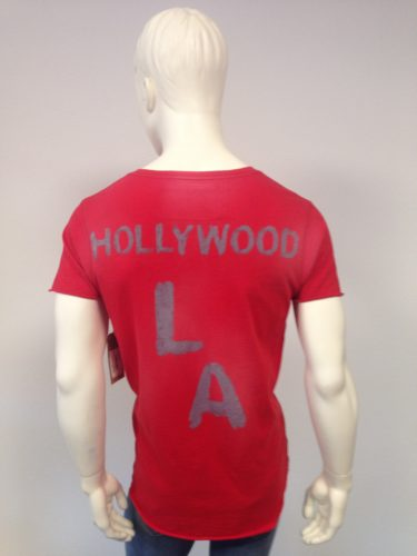 True Religion - T-Shirt V-Neck mit Hollywood-Print